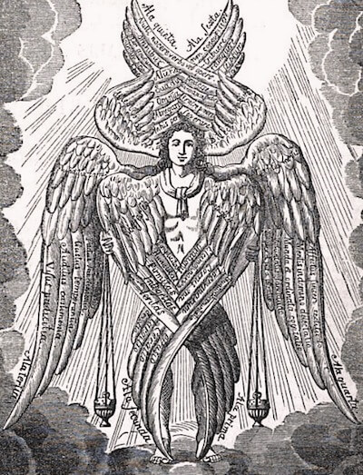 Depiction of a seraph from book 210 of the Patrologia Latina