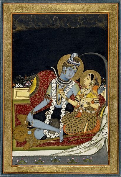 Shiva with Parvati (c. 1800)