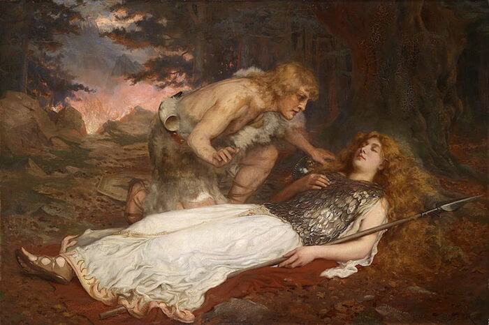 Siegfried and Brunnhilde by Charles Ernest Butler (1909)