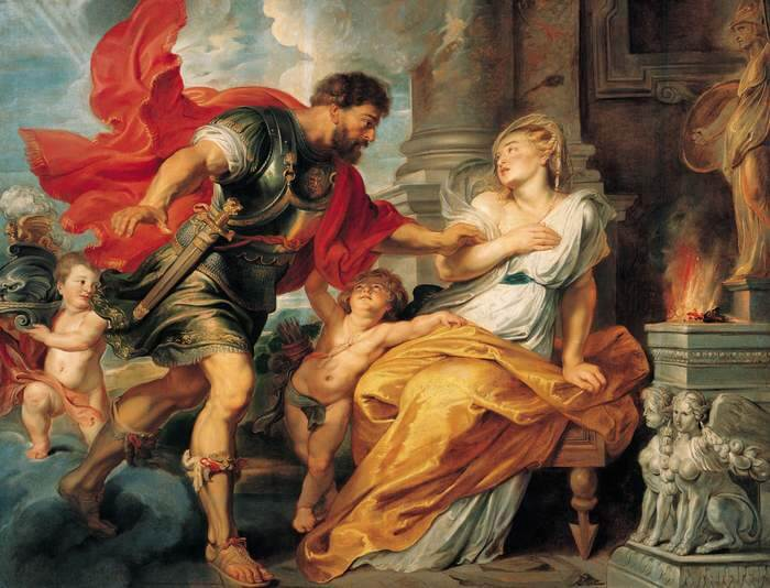 Mars and Rhea Silvia by Peter Paul Rubens (1617)