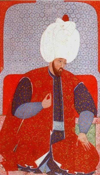 Süleyman the Magnificent depicted in an Ottoman miniature