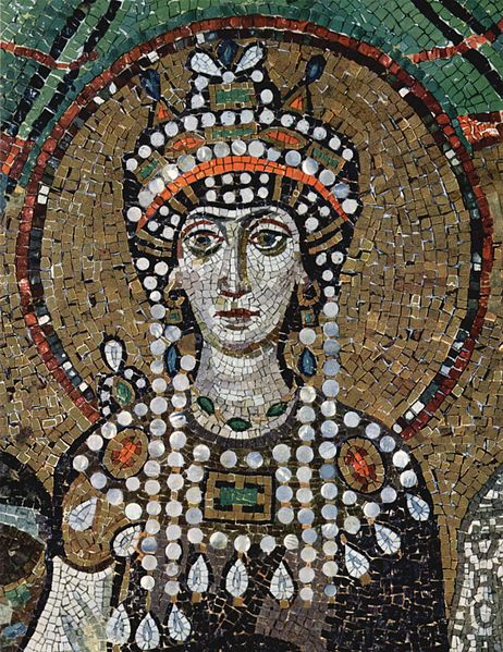 Byzantine empress Theodora, from the Church of San Vitale in Ravenna