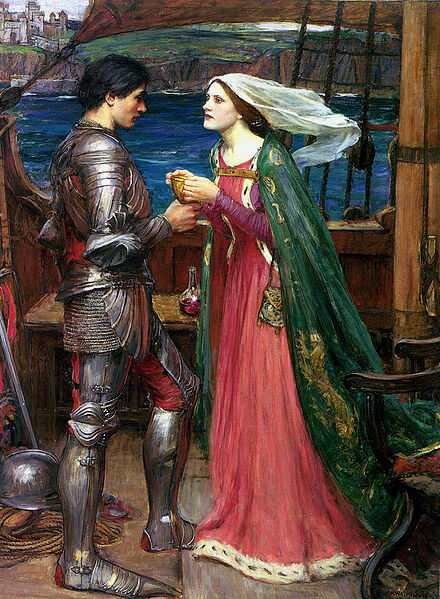 Tristan and Isolde by John William Waterhouse (1916)