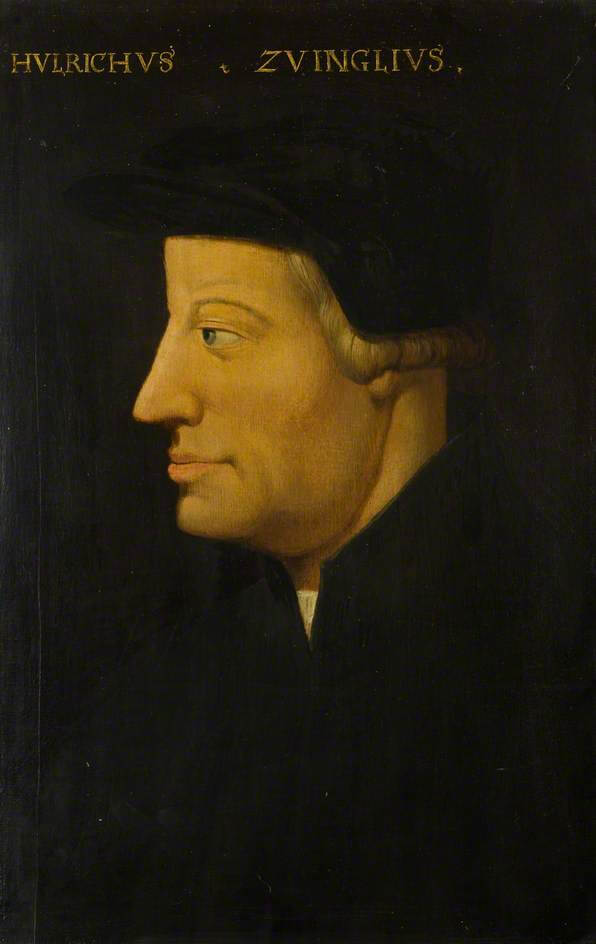 Painting of Ulrich Zwingli from the 16th century