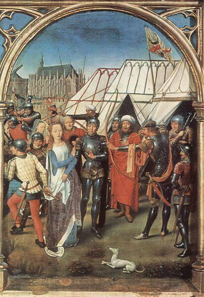 The Martyrdom of Saint Ursula by Hans Memling (1489)