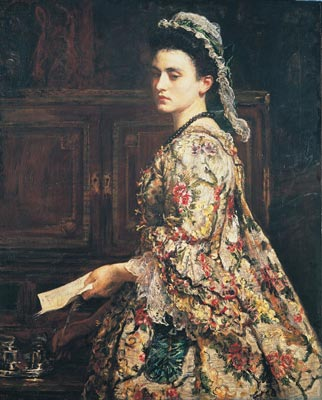 Depiction of Esther Vanhomrigh by John Everett Millais (1868)