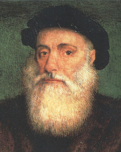Portrait of Vasco da Gama by Gregório Lopes (1524)