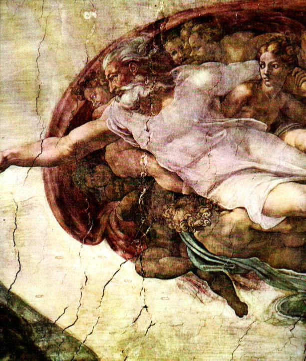 Depiction of God by Michelangelo, from the ceiling of the Sistine Chapel