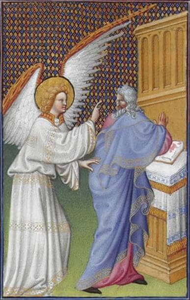 The Archangel Gabriel Appears to Zechariah, a painting from the 15th century