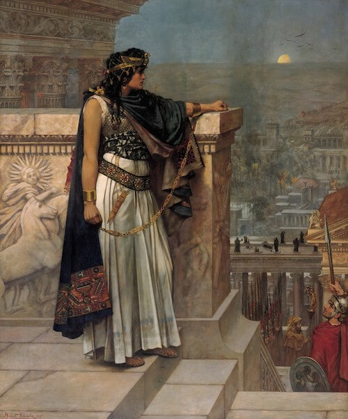 Queen Zenobia's Last Look Upon Palmyra by Herbert Schmalz (1888)