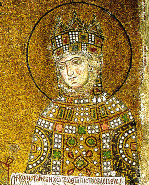 Byzantine empress Zoe, from a mosaic in Hagia Sophia