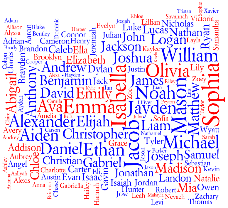 The Best Name: Popular Names In The United States 2011